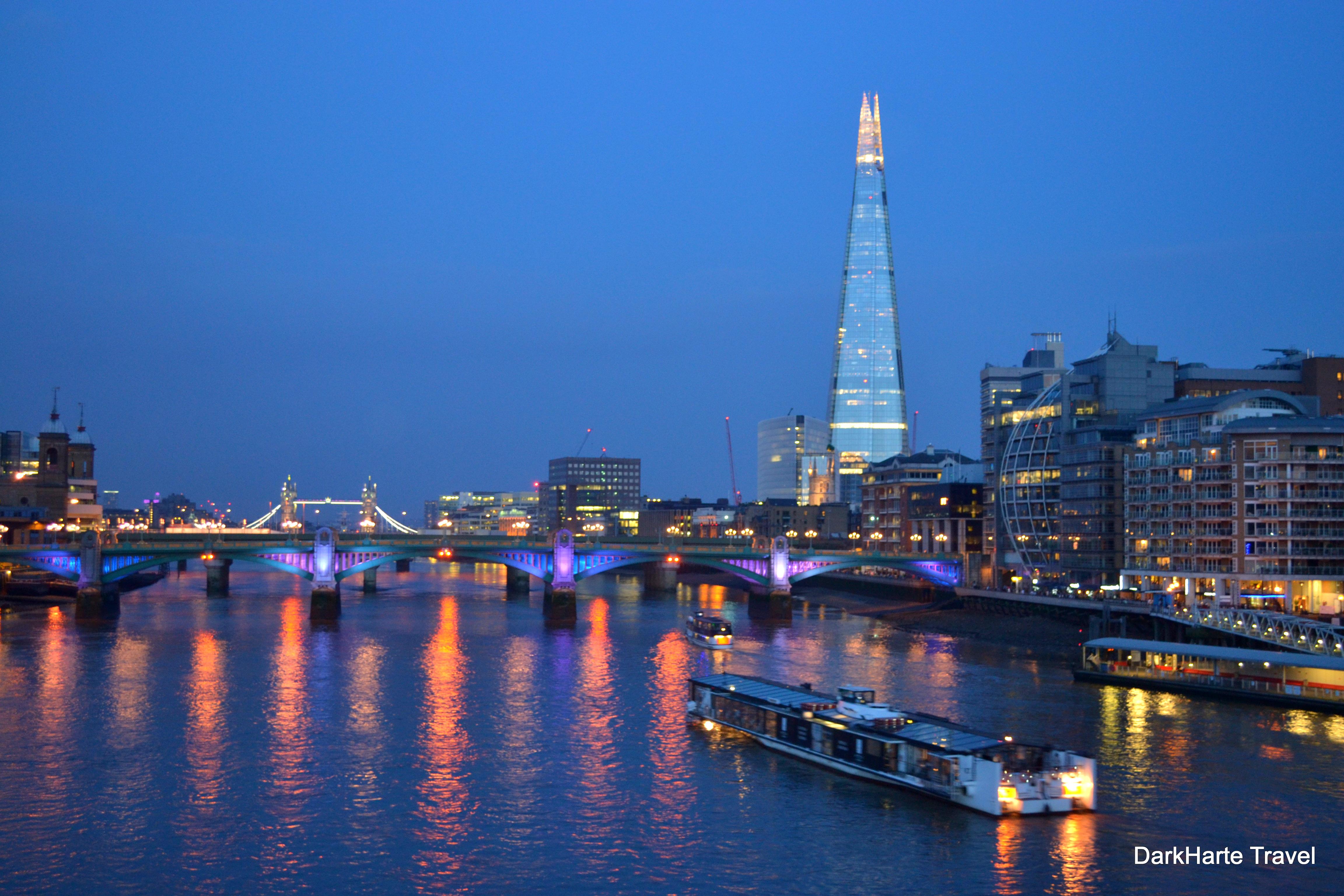 Twilight On The River Thames Dark Heart Travel